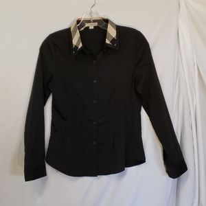 Burberry Brit Black Fitted Check Sleeves XL